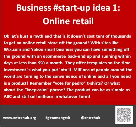 Business #start-up idea 1: Online re