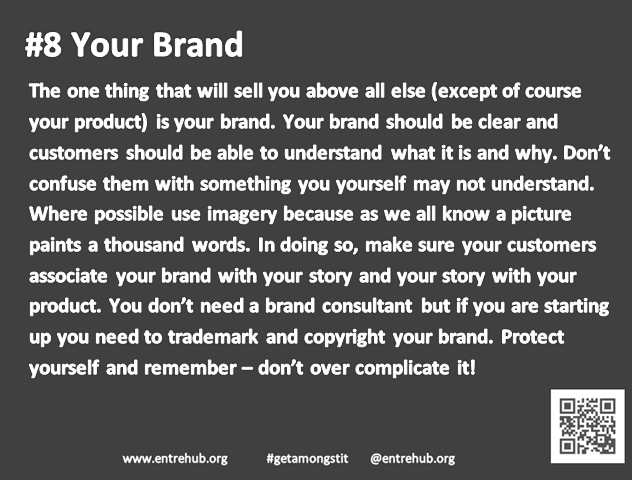 #8 Your brand