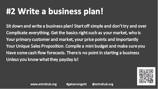 #2 Write a business plan