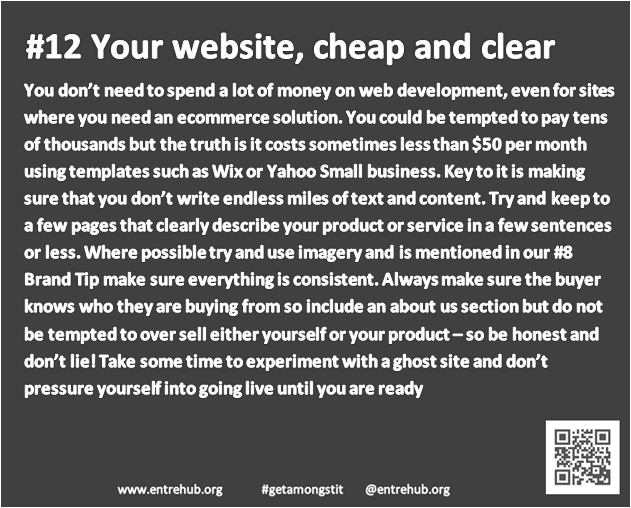 #12 Your web presence