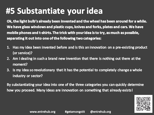 #5 Substantiate your idea