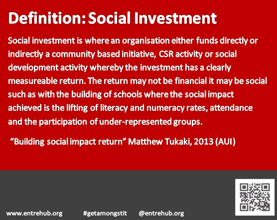 Definition of Social Investment