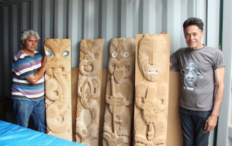 Maori Carving Project Underway