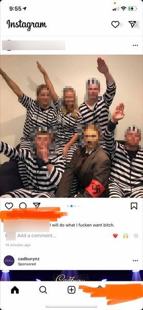 Nazism on show as Christchurch partygoers dress as Hitler, Concentration camp victims