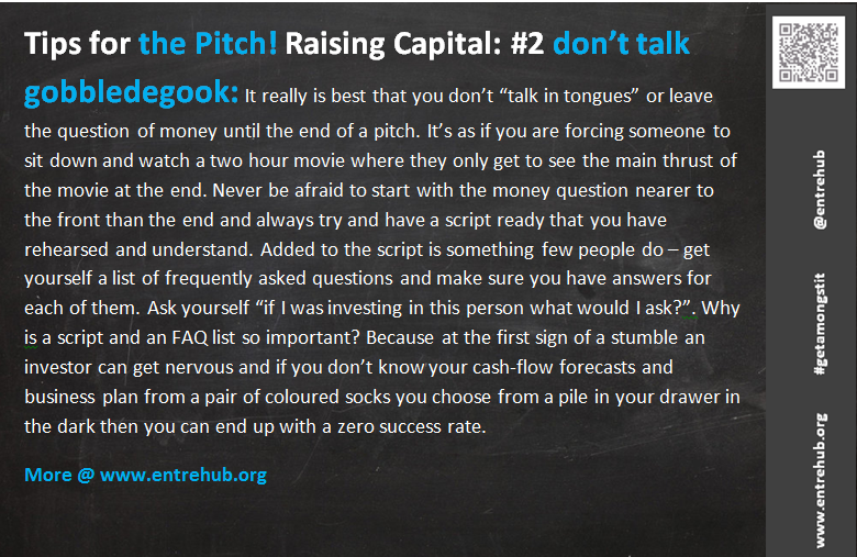 Raising Capital - the pitch