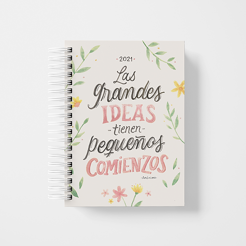 "Agenda 2021 - ""Grandes ideas"" / acuarela"