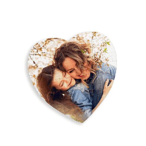 Rompecabezas corazón personalizados