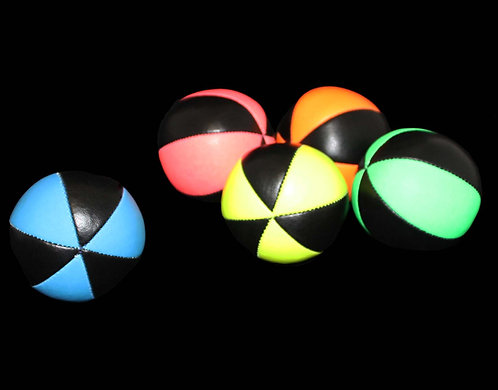 Set of 3 Balls UV Pro 6 Panel Star Juggling Balls