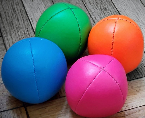 SET of 3 Flow Juggle Balls Pro 4 Panel Premium faux leather 3 Balls