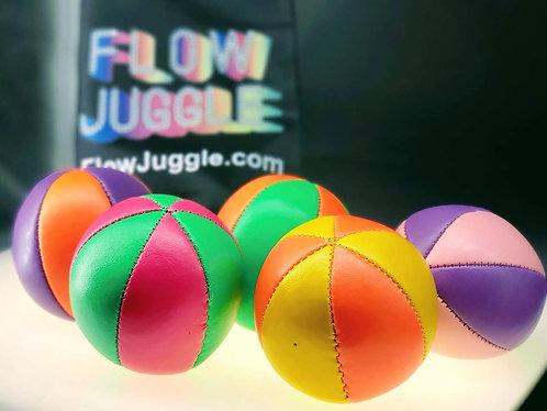 Flow Juggle Juggling Balls,1 Ball UV Pro 6 Panel Start Premium Faux Leather