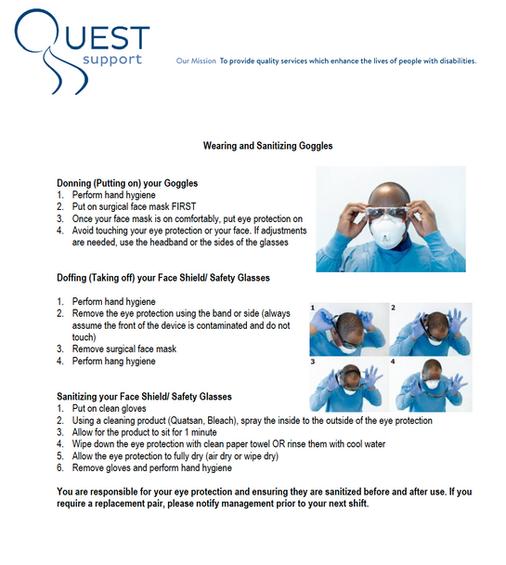 Donning/Doffing Eyewear PPE