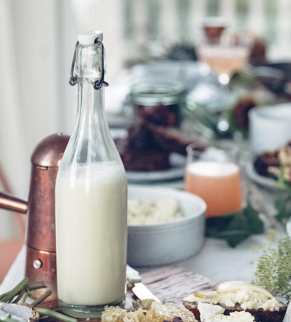 mleko roślinne, mleko migdałowe