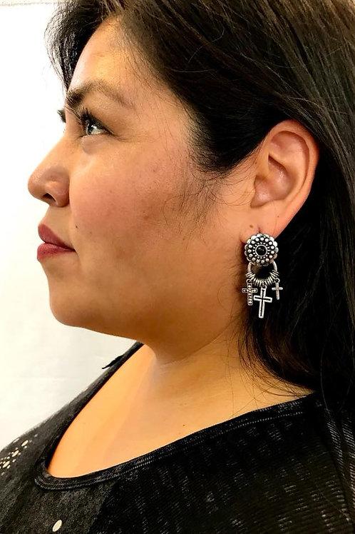 Drop Cross Earring