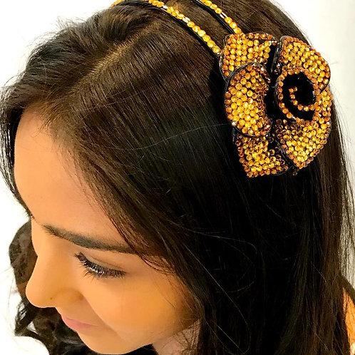 Flower Headband Gold