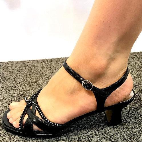 Black Sandals Low Heel
