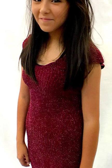 Burgundy Sparkle Dress