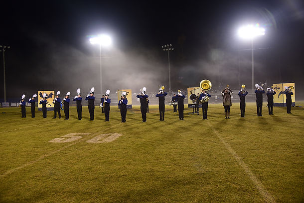 Marching Eagles perform for the National Homeschool Football League Championship Game!