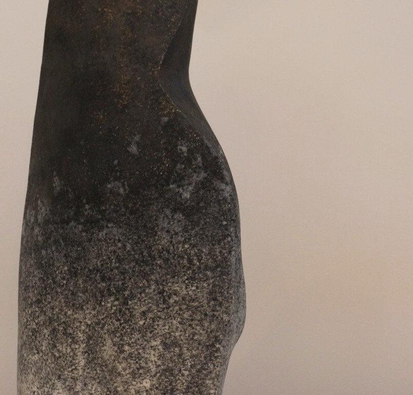 vase grès engobe de porcelaine céramique contemporaine sculpture