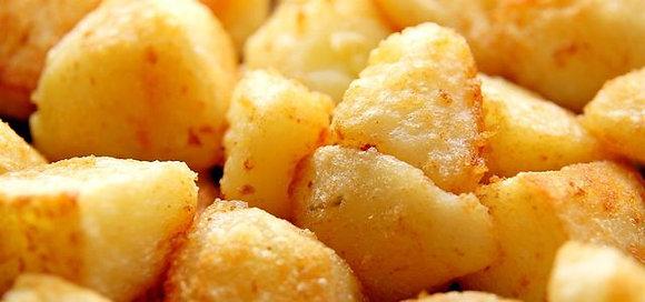 Kartoffeln a la casa (frittierte Kartoffelecken)