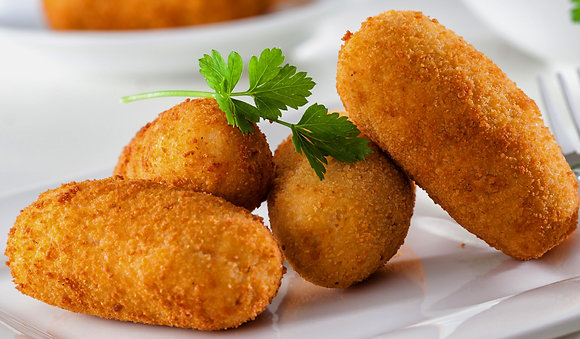 Codfish cakes (Croquetas mit Kartoffel u. Stockfisch) 4 Stück