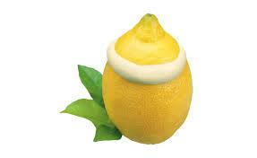 Zitroneneis (in echter Zitrone)