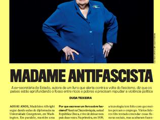 Páginas Amarelas com Madeleine Albright na VEJA