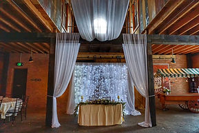 Draping flowers and Decor