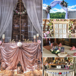 Flowers draping and decor Hayloft on The Arch