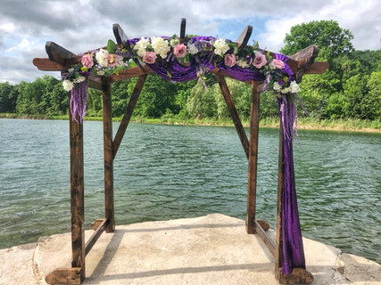 Arch Decor and flowers