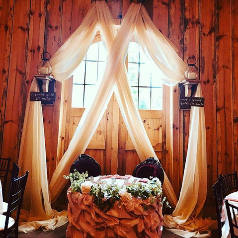 Sweetheart table ❤️💕❤️#draping #sweethe