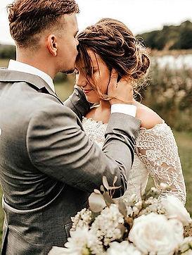 Bride and Groom Wolf Oak Acres