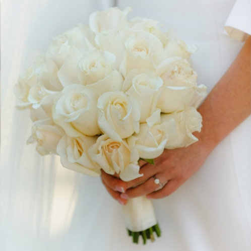Snowy White Brides Bouquet
