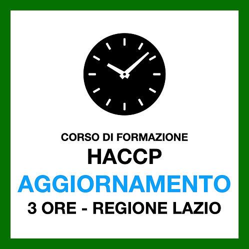 AGGIORNAMENTO HACCP - 3 ore