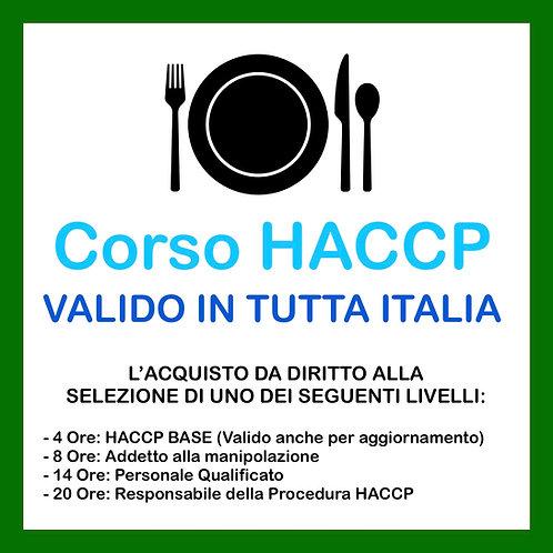 CORSO HACCP ONLINE: 4-8-14 o 20 ore