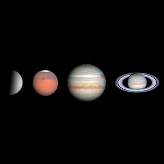 VENUS, MARS, JUPITER, SATURN