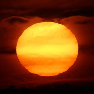 SUNSET over the AUSTRALIAN DESERT