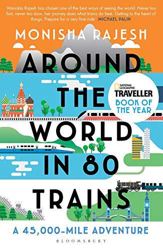 Around the World in 80 Trains - with SIGNED bookplate!