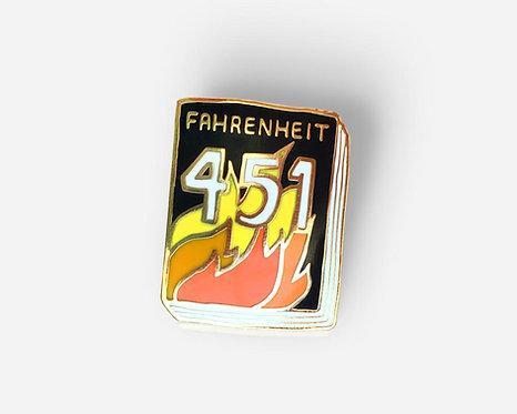 Book Pin: Fahrenheit 451