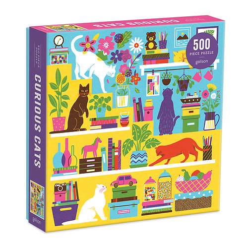 Curious Cats 500 Piece Puzzle