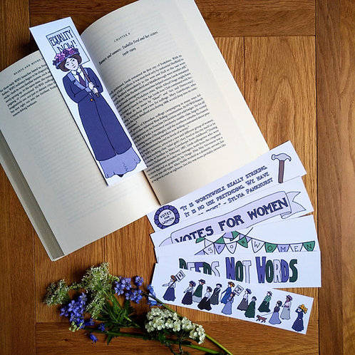 Suffragette Bookmarks set