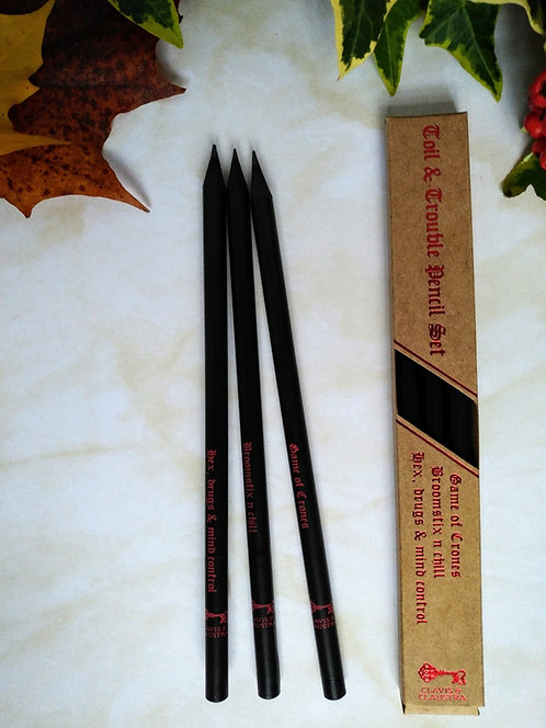 Toil & Trouble pencil set