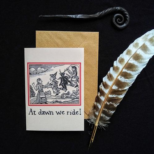 At Dawn We Ride card