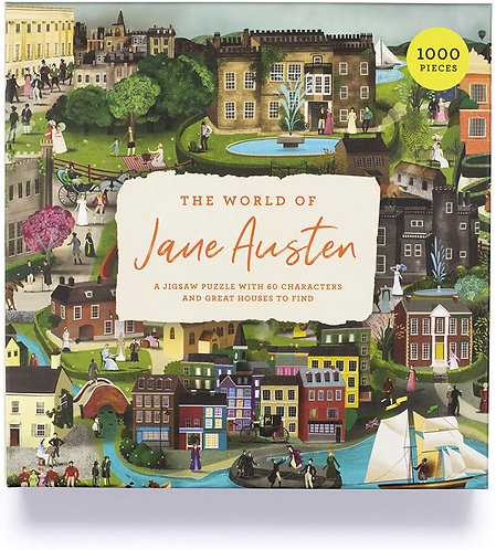 The World of Jane Austen : A Jigsaw Puzzle with 60 Characters and Great Houses t