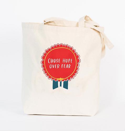 Chose Hope Over Fear designer tote Bag