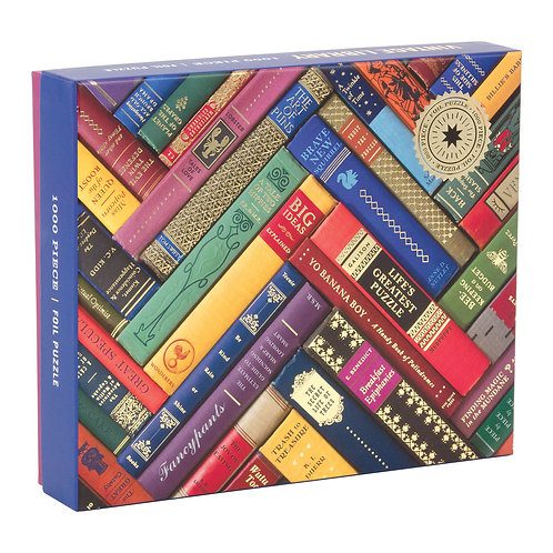 Vintage Library 1000 Piece Foil Stamped Puzzle