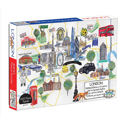 London Map 1000 Piece Puzzle
