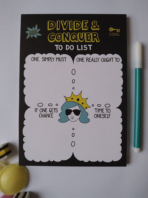Divide & Conquer to do list pad