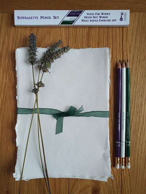Suffragette pencil set