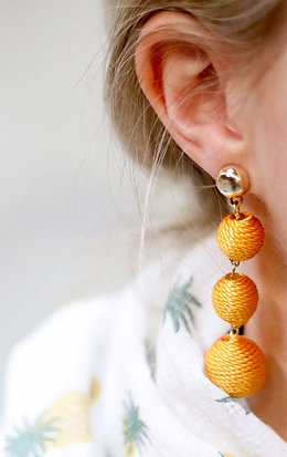 COTTON DROP EARRINGS-More Colours