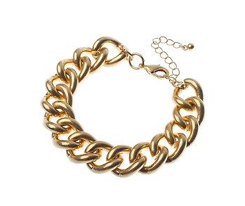 Chunky Worn Gold Bracelet